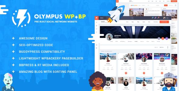 Olympus - Responsive Community & Social Network WordPress Theme            TFx Skyler Isi