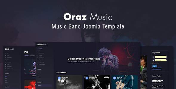 Oraz – Music Band Joomla Template      TFx Coty Citlalli