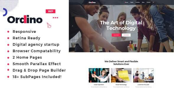 Ordino - Digital Marketing WordPress Theme      TFx Stirling Baghdasar