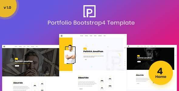 Pattric - Personal Portfolio HTML5/Bootstrap4 Template            TFx Austin Elmo