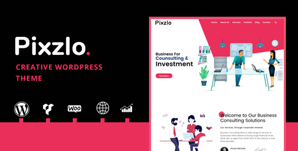 Pixzlo - Creative Theme for Professionals      TFx Linwood Jeffrey