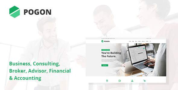 Pogon - Business and Finance Corporate PSD Template            TFx Brad Kiefer