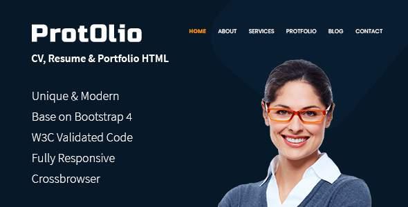 PortOlio- CV, Resume Personal Portfolio HTML Template            TFx Dallas Robby
