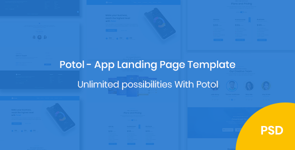 Potol - App Landing Page Template            TFx Garey Fenton