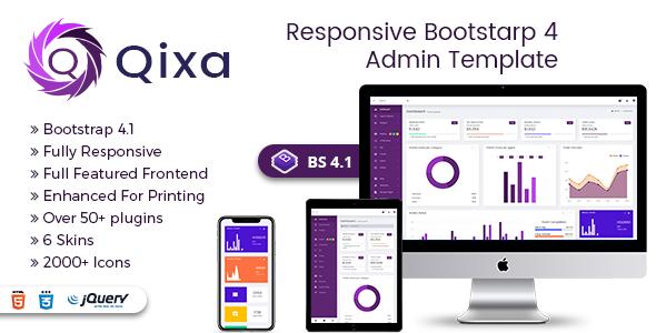 Qixa - Responsive Bootstrap 4 Admin Dashboard Template            TFx Jaiden Erik