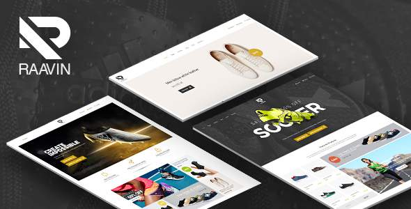 Raavin – Shoes eCommerce Bootstrap 4 Template            TFx Ibrahim Manny