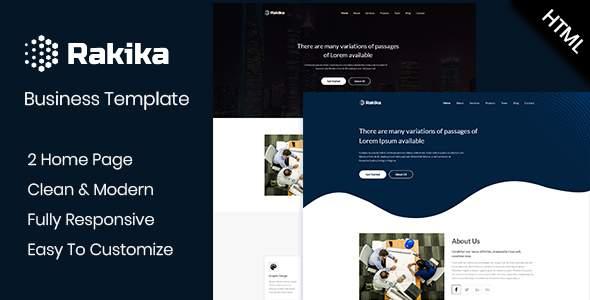 Rakika - One Page Business HTML Template            TFx Kaolin Leighton