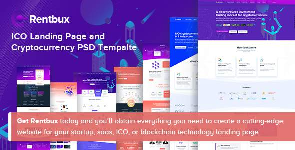 Rentbux - ICO Landing Page and Cryptocurrency PSD Template            TFx Jaixaing Lynn