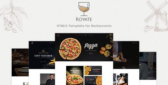 Royate | Restaurant HTML5 Template      TFx Origen Ryker