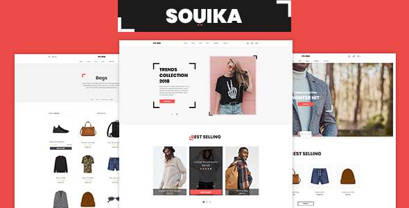 SOUIKA - Clothing and Fashion PSD Template            TFx Zachariah Jolyon