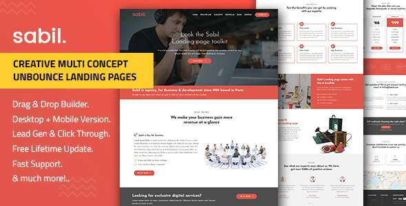 Sabil — Multi-Purpose Template with Unbounce Page Builder            TFx Angel Conor