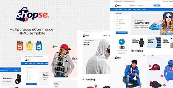 Shopse - Multipurpose eCommerce HTML5 Template            TFx Tobias Norwood