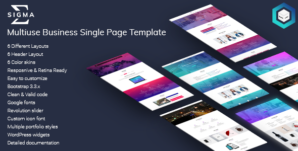 Sigma - Multiuse Business Single Page HTML5 Template            TFx Ritchie Arsen
