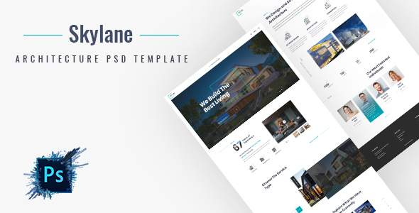 Skylane | Creative Architecture PSD Template            TFx Swithin Kyler