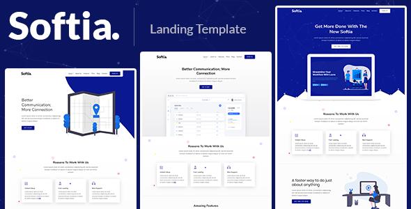 Softia – Responsive Bootstrap 4 Landing Template      TFx Geffrey Kendal