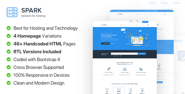 Spark Host - Responsive Hosting, Domain and Technology Template            TFx Harley Akira