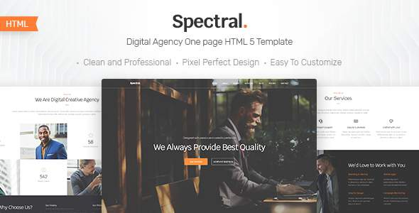 Spectral - Business & Agency One Page HTML5 Template            TFx Alf Fulton