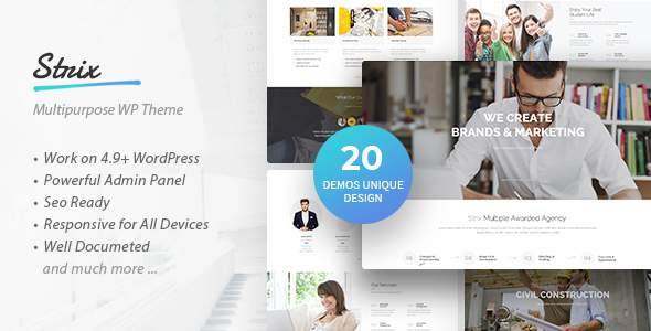 Strix - Multipurpose WordPress Theme            TFx Isi Ken