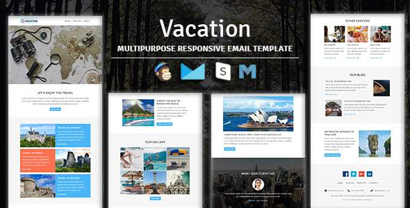 Vacation – Multipurpose Responsive Email Template With Stampready Builder & Mailchimp Access            TFx Lachlan Cory