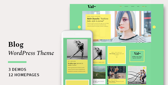 Val – Blog WordPress Theme            TFx Rickey Philander