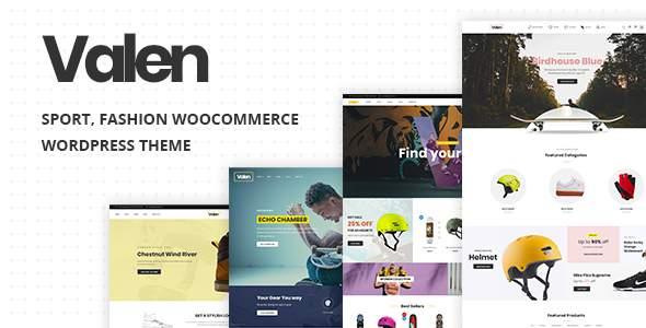 Valen - Sport, Fashion WooCommerce WordPress Theme      TFx Kenta Toros