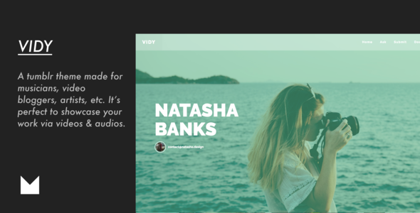 Vidy – Responsive Video Tumblr Theme            TFx Deven Kermit