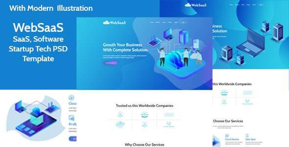 WebSasS - SaaS, Software, Startup Tech PSD Template            TFx Ron Dashiell