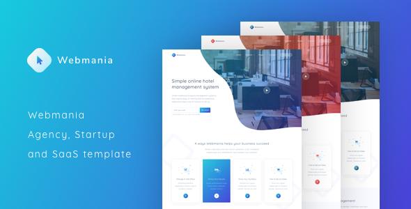 Webmania – Agency, Startup and SaaS Template            TFx Yoshiro Attila