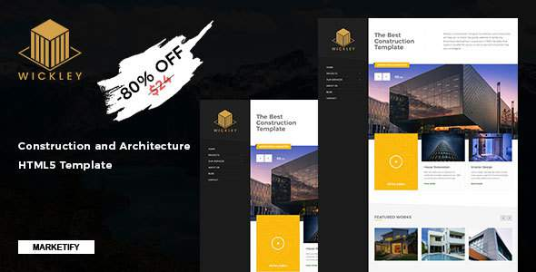 Wickley - Construction and Architecture HTML5 Template            TFx Toros Bram