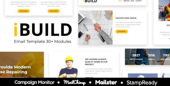 iBuild - Construction & Building Responsive Email Template - StampReady + Mailster & Mailchimp      TFx Richard Placid