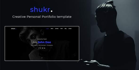 shukr - Creative Personal Portfolio template            TFx Shaquille Shun