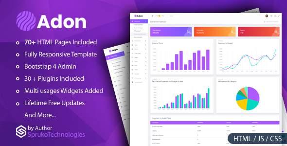 Adon - Creative Admin Multipurpose Responsive Dashboard  Template        TFx Zeke Norm