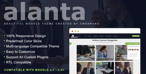 Alanta - Education Moodle Theme        TFx Osbert Alf