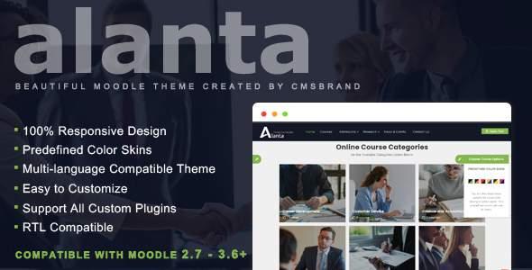 Alanta - Responsive Premium Moodle 2.7 - 3.6+ Theme, based on Bootstrap        TFx Benedict Carey
