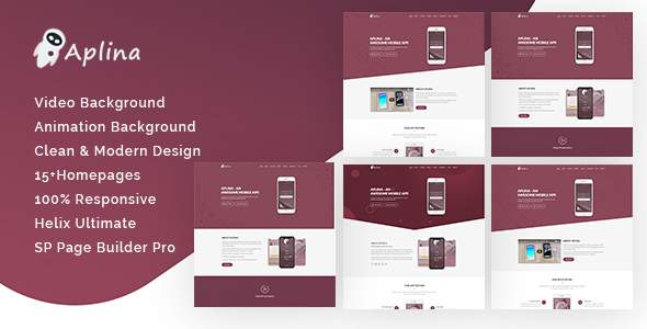 Aplina – App Landing Page Joomla Helix Ultimate Theme        TFx Zoroaster Vinal
