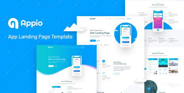 Appio Landing Page PSD Template        TFx Shayne Coby