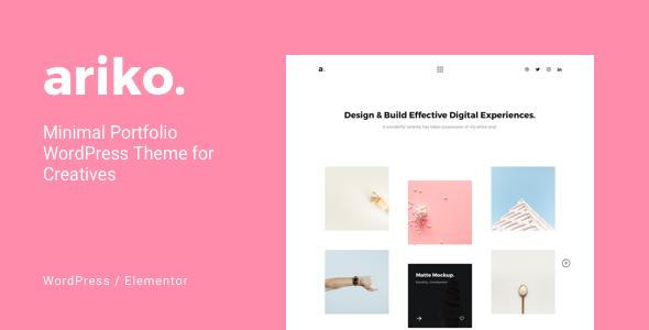 Ariko - Minimal Portfolio WordPress Theme for Creatives        TFx Karter Beauregard