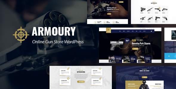 Armoury - Weapon Store WordPress Theme        TFx Darryl Ara