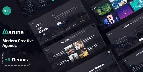 Aruna – Creative Template for Agency and Portfolio        TFx Maynerd Trevor