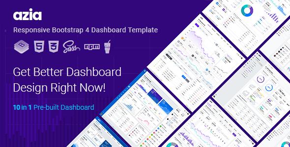 Azia Responsive Bootstrap 4 Dashboard Template        TFx Otto Bidziil