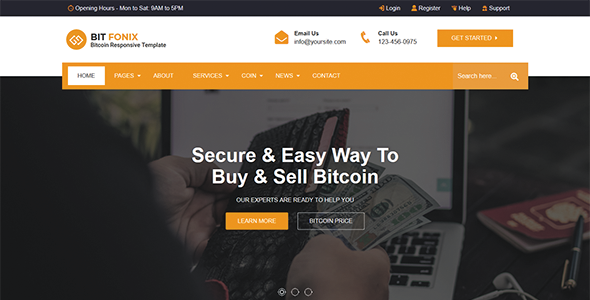 Bitfonix - Bitcoin And Crypto Currency HTML Template        TFx Takara Ryuunosuke