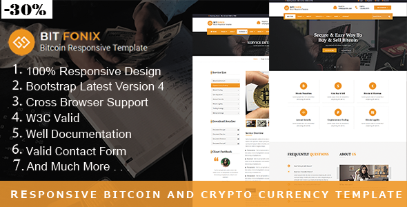Bitfonix - Bitcoin And Crypto Currency HTML Template        TFx Catahecassa Bertrand