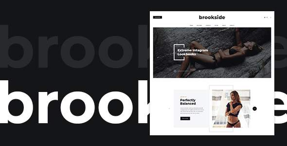 Brookside - Blog PSD Template        TFx Ronny Ray