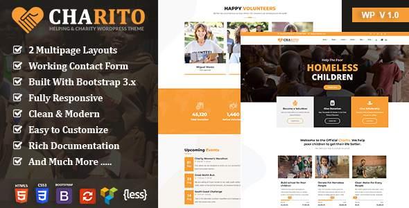 Charito - NonProfit Charity WordPress Theme        TFx Danny Sylvanus