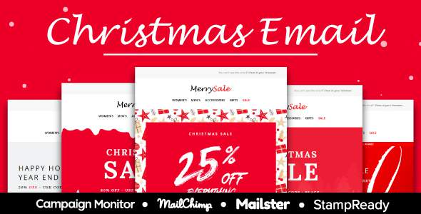 Christmas Sale - Multipurpose Responsive Email Template - StampReady + Mailster & Mailchimp        TFx Zed Ern