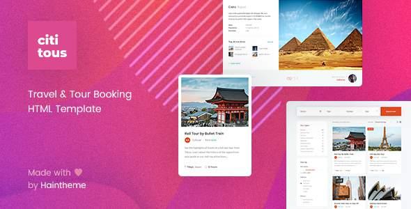 Cititous - Tour & Travel HTML Template        TFx Keir Alpha