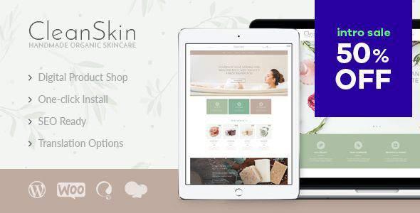 CleanSkin   Handmade Organic Soap & Natural Cosmetics Shop WordPress Theme        TFx Merit Woodrow