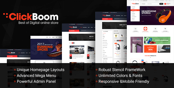 ClickBoom - Responsive Multipurpose StenCil BigCommerce Theme with Advanced Theme Option        TFx Cat Luke