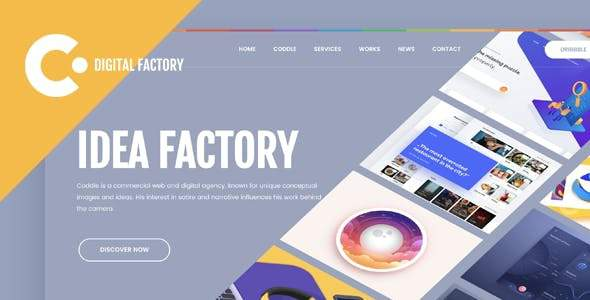 Coddle | Digital Factory Joomla Template        TFx Daud Leith