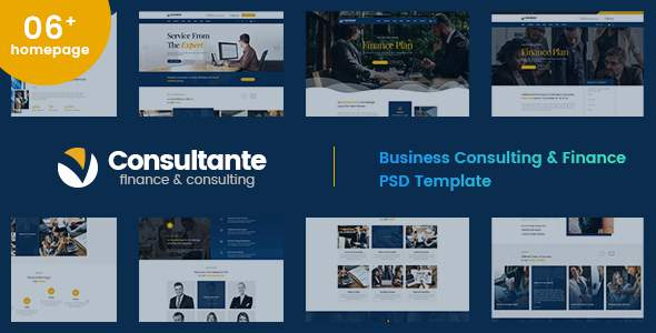 Consultante | Business Consulting & Finance PSD Template        TFx Jerrard Saburou